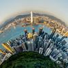 Hong Kong: A Bird's Eye View<br /> Hong Kong, People's Republic of China<br /> 2015<br /> (Stitched Panorama)