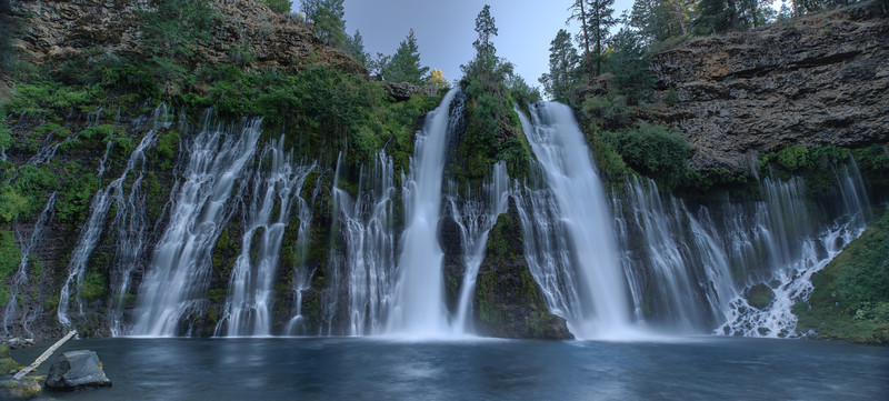 McArthur-Burney Falls I<br /> Shasta County, California<br /> (Stitched Panorama)