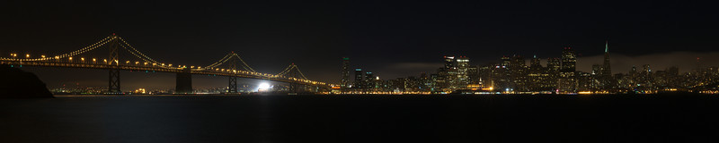 San Francisco Night Skyline<br /> (Stitched Panorama)