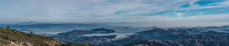 Pano of Bay from Mt. Tam on New Years Day 2018 (26155 x 5257)