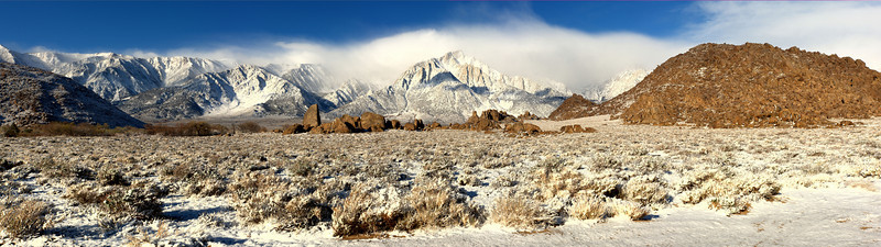 After the Storm<br /> Sierra Crest, Alabama Hills, California<br /> (Stitched Panorama)