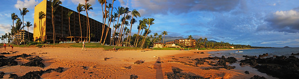 March 15  Worked on some of our Maui photos over the weekend. This is the facility we stay at in the Kehei/southwest area.  3 shot panorama