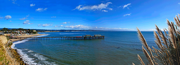 November 9   After saying good bye to Kamryn and Mike this afternoon, I took a short cruise through Capitola Village.  (two-shot panorama)  It was a very beautiful day, with gorgeous skies and spectacular clouds; giving me much to look at during my drive home! I stopped several times to practice shooting panoramas.  I hope to post one or two of those this week!