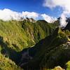 Today's daily travel photo is of a panoramic shots of the Ancient lost city of Machu Picchu, Peru showing a grand perspective.