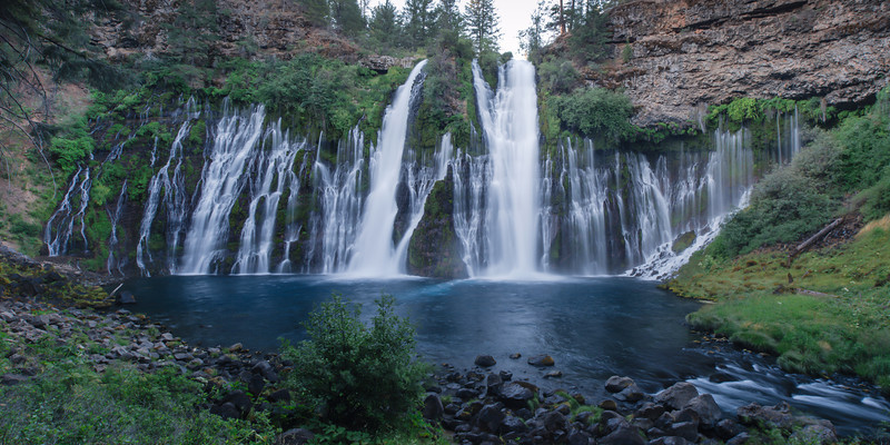 McArthur-Burney Falls II<br /> Shasta County, California<br /> (Stitched Panorama)