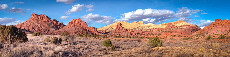 Fleeting Clouds<br /> Capital Reef National Park, Utah<br /> (Stitched Panorama)