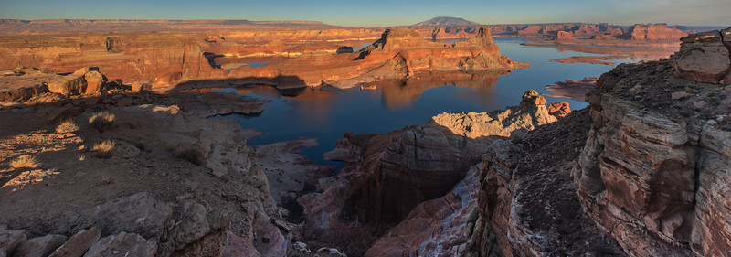 Lake Powell Sunset<br /> Glen Canyon National Recreation Area, Utah<br /> (Stitched Panorama)
