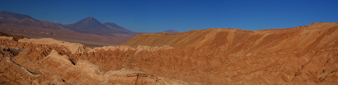 Valley of the Moon Panorama in Atacama, Chile