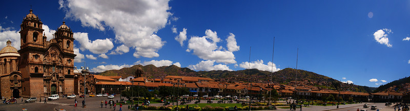 Today's daily travel photo is a panoramic view of Cuzco, Peru on a gorgeous afternoon.