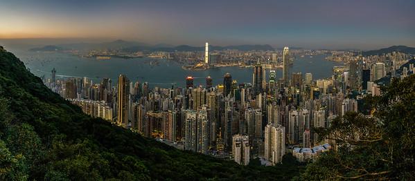 Nightfall over Hong Kong Hong Kong, People's Republic of China 2015 (Stitched Panorama)