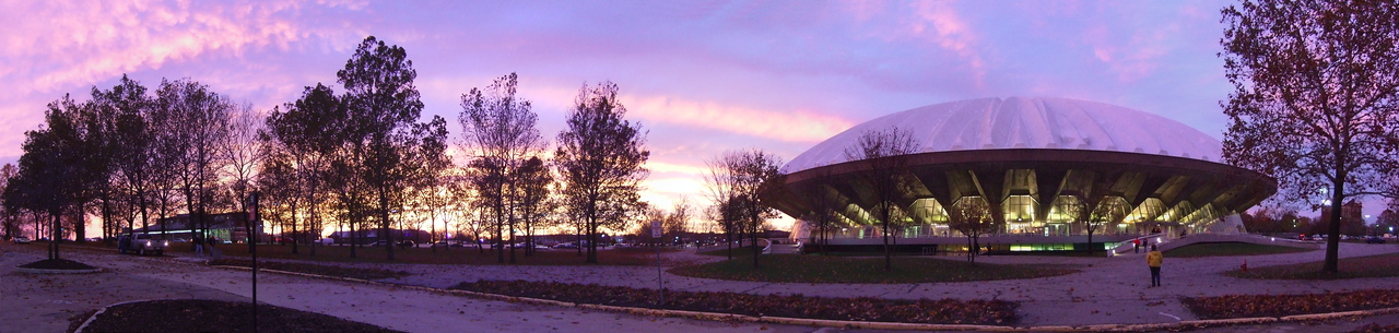 UofI Assembly Hall, Sunset