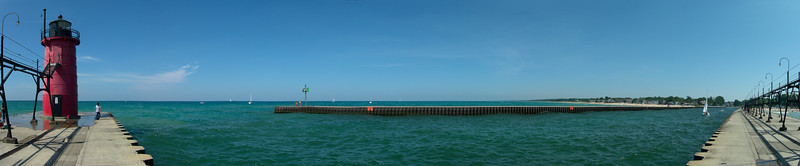 South Haven Light house panorama