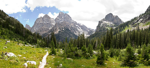 Grand Teton from trail up to Lake Solitude (WY)