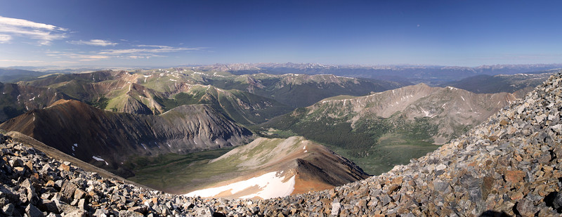 View West from Gray's Peak (CO)