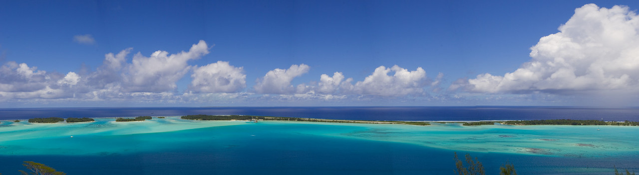 Bora Bora from on top of the volcano South Pacific