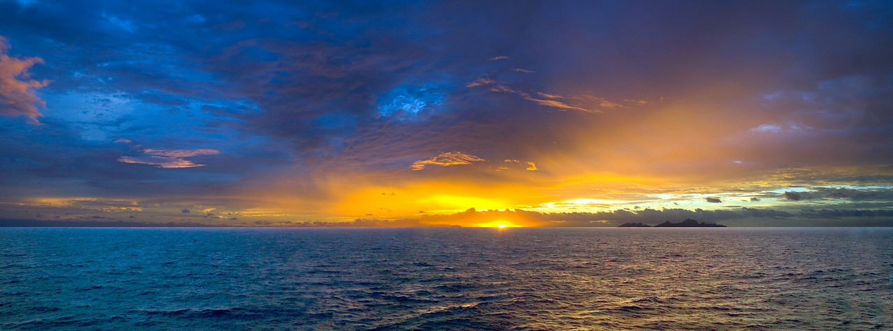 Sunset from at sea South Pacific