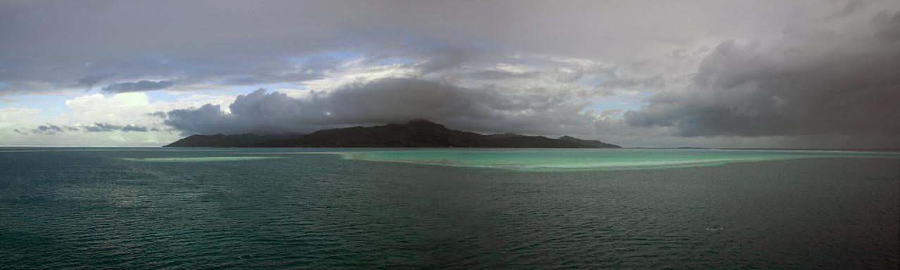 Raiatea from at sea South Pacific