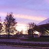 University of Illinois Assembly hall sunset