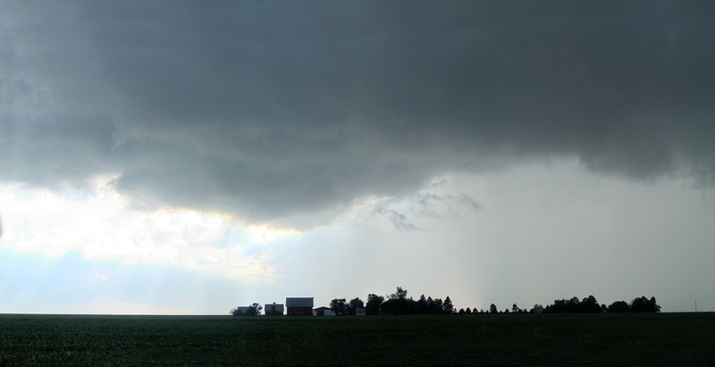 Summer storm looms over farm