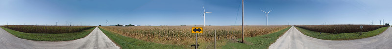 Intersection with windmills