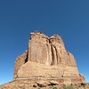 Big Rock, butte, western blue sky