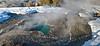 Blue water geyser yellowstone yellowstone in winter