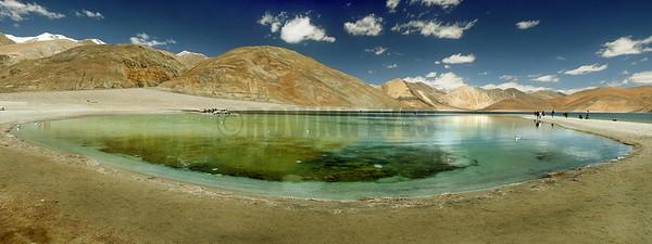 P8:Pangong Tso (4250 Mtrs) with its lagoon, Ladakh