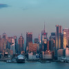 West Side of Manhattan from Weehawken, NJ - At Sunset
