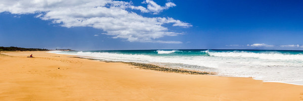 Papohaku Beach Panorama - Molokai, Hawaii, USA