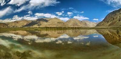P16:Reflections at Diskit, Nubhra Valley, Ladakh