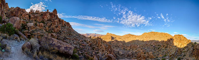 Panorama of hiking trail in Big Bend National Park, Texas