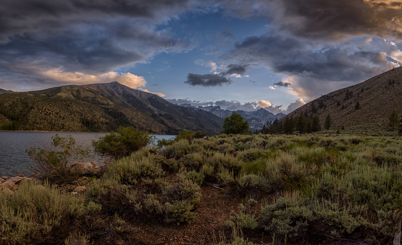 Sunset over Twin Lakes, California