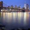 Brooklyn Bridge and Manhattan viewed from Brooklyn Bridge Park - Blue Hour