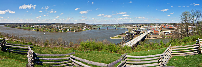 A view from Fort Boreman