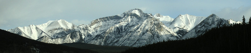 Mountain range in Banff National Park, AB Canada