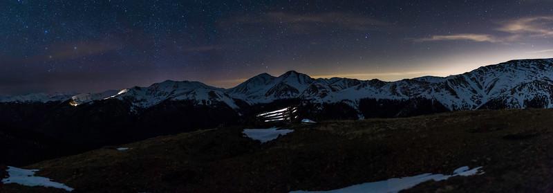 4-22-17 Grays & Torreys Starey Panorama, 127 Megapixels