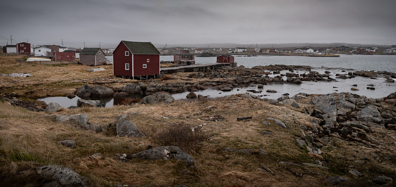 Fogo Island Town of Tilting pano