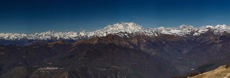 Monte Rosa, panorama depuis le Mottarone