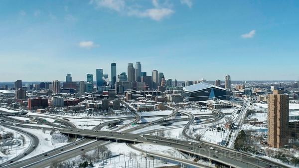 March Downtown Minneapolis Skyline