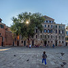 Children playing near Chiesa di San Polo, Campo San Polo, Venice, Italy