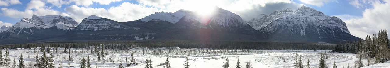 Early morning Mountain Range, Banff, AB Canada