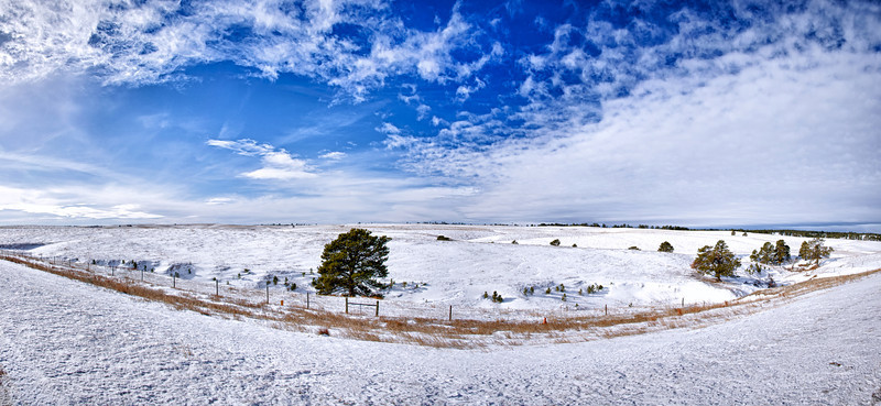 Snow Covered Nebraska Sandhills along Highway 27 in January