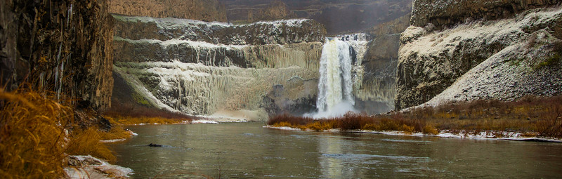 Palouse Falls Winter Panorama 1