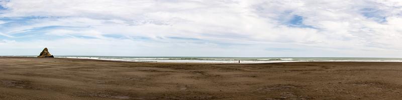 Karekare Beach and Panatahi Island