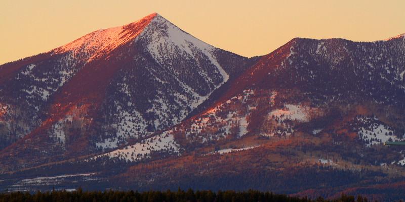 Winter Mountain Fire