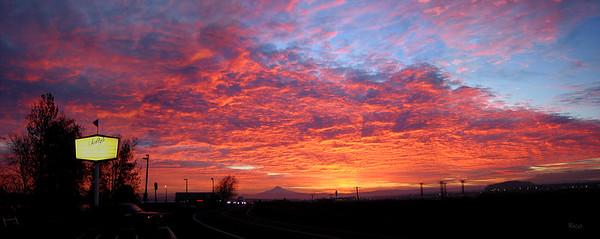 Sunrise over Salty's