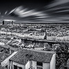 Panorama of Lyon in B/W from the terrace of the Antiquaille