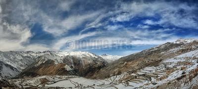 P24:Malling range as seen from Nako Village, Kinnaur, Himachal Pradesh