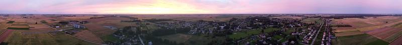 Aerial panorama over Lukšiai, Šakiai region, 2020-07-11