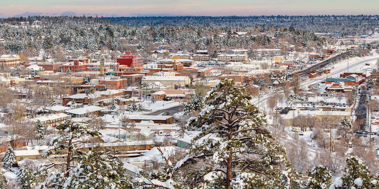 Downtown Flagstaff in Winter